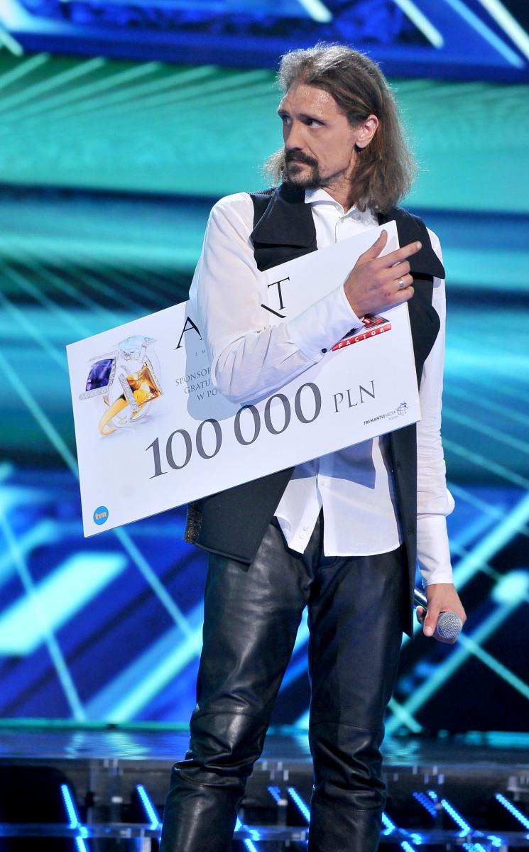 "Gienek Loska, zwycięzca ""X Factor"""
